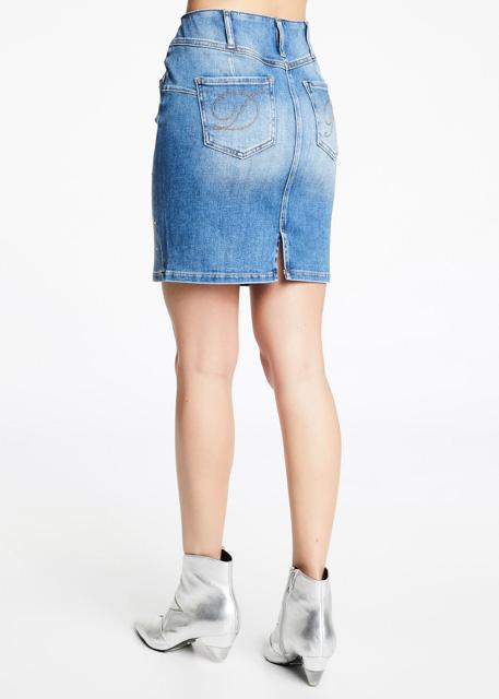 Gonna jeans con applicazioni DENNY ROSE-2