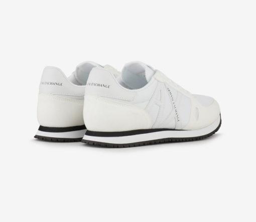 scarpa allacciata bianca Armani Exchange uomo logo in tinta-2