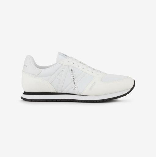 scarpa allacciata bianca Armani Exchange uomo logo in tinta