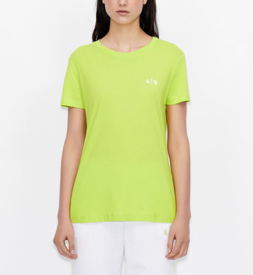 maglietta da donna ARMANI EXCHANGE con scritta lungo la schiena-9