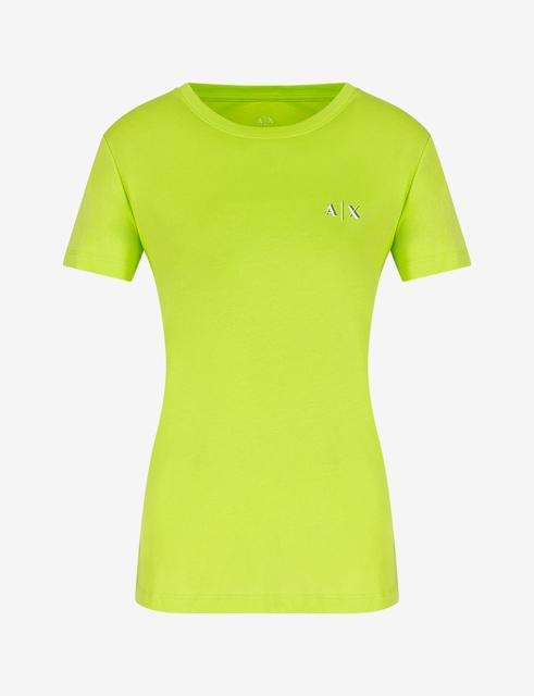 maglietta da donna ARMANI EXCHANGE con scritta lungo la schiena-11