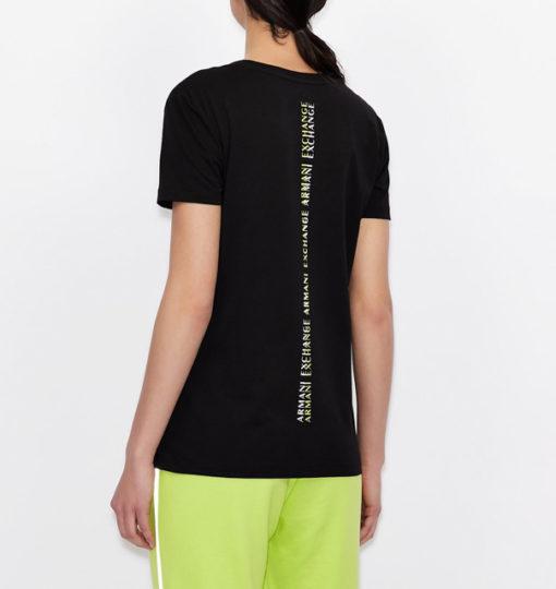 maglietta da donna ARMANI EXCHANGE con scritta lungo la schiena-7