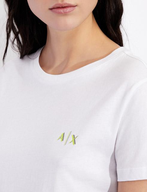 maglietta da donna ARMANI EXCHANGE con scritta lungo la schiena-5