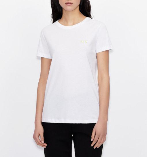 maglietta da donna ARMANI EXCHANGE con scritta lungo la schiena-2