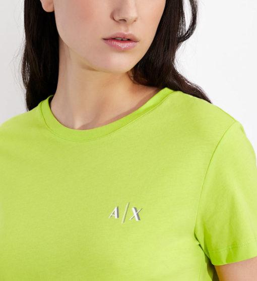 maglietta da donna ARMANI EXCHANGE con scritta lungo la schiena-3