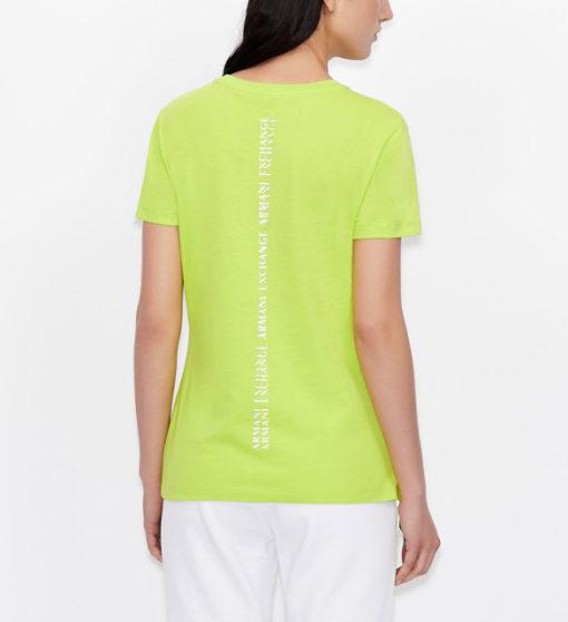 maglietta da donna ARMANI EXCHANGE con scritta lungo la schiena-6