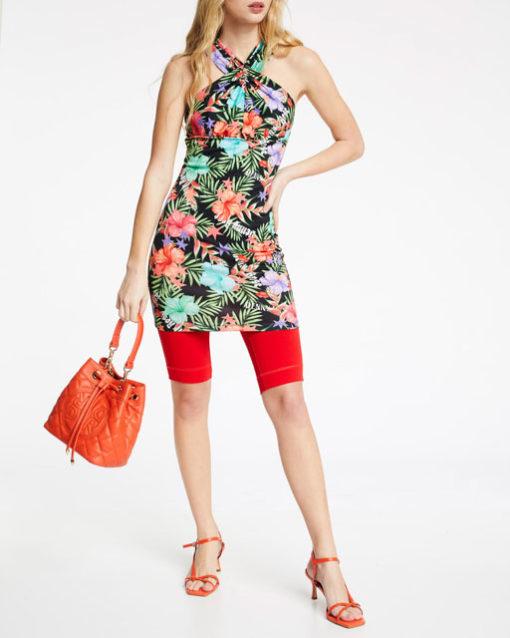 vestitino DENNY ROSE con scollo all'americana e motivo floreale-3