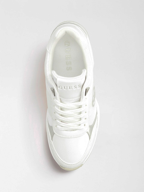 scarpa bianca allacciata GUESS donna-3