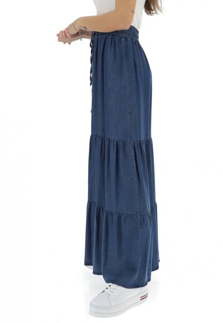 gonnellone con balze in jeans ARTIGLI donna-2