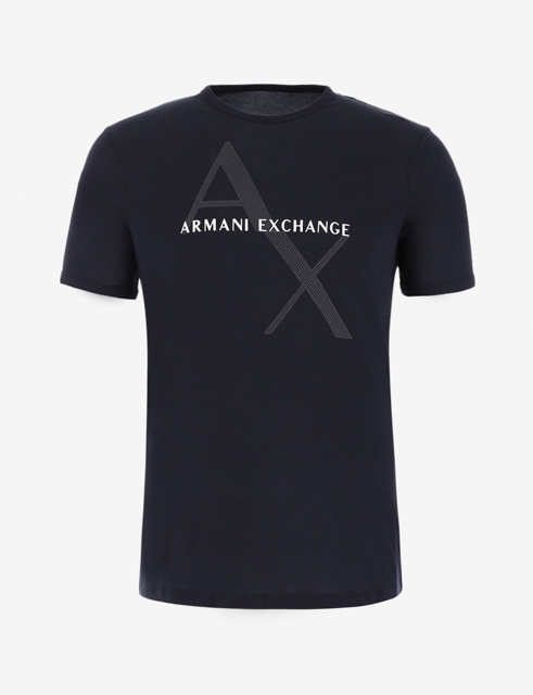 Maglietta girocollo Armani Exchange con stampa da uomo-3