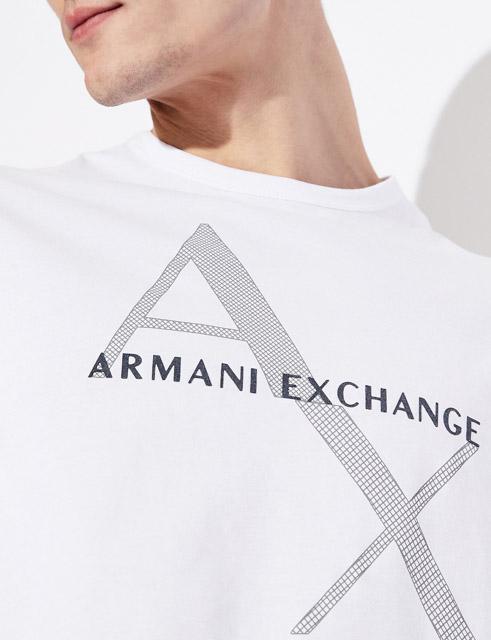 Maglietta girocollo Armani Exchange con stampa da uomo-2