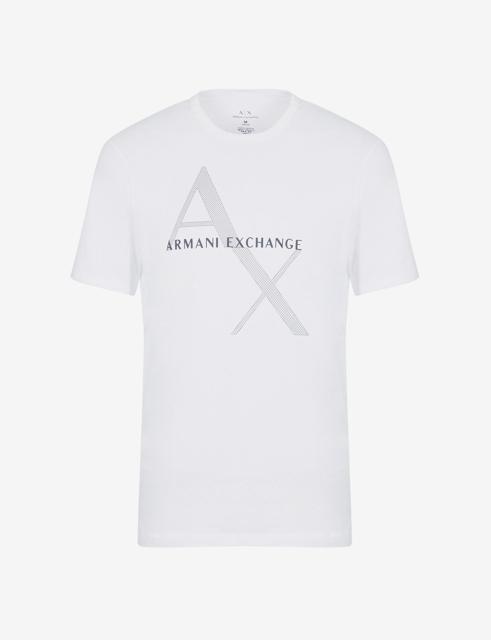 Maglietta girocollo Armani Exchange con stampa da uomo-5