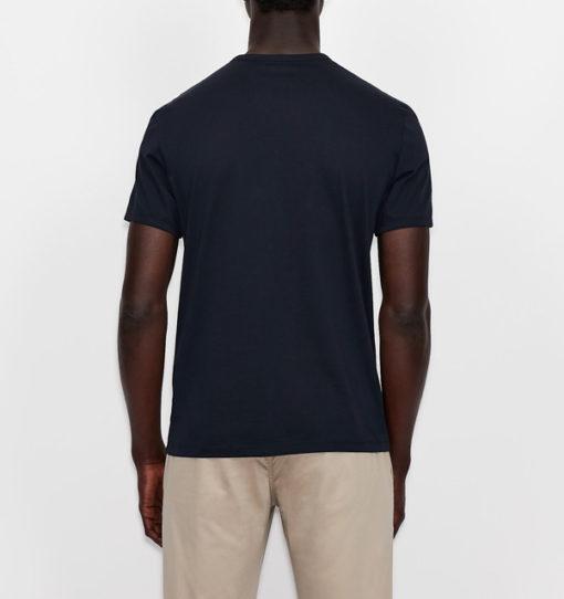 Maglietta girocollo Armani Exchange con stampa da uomo-6