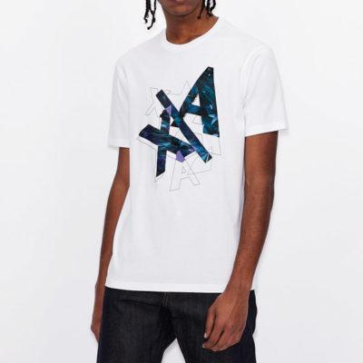 ARMANI EXCHANGE t-shirt con stampa colorata da uomo