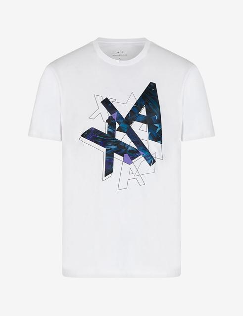 ARMANI EXCHANGE t-shirt con stampa colorata da uomo-4