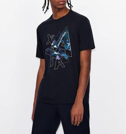 ARMANI EXCHANGE t-shirt con stampa colorata da uomo-1