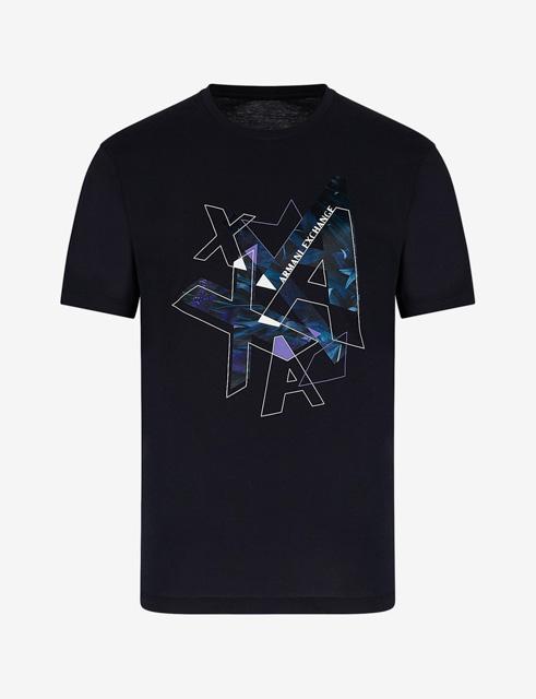 ARMANI EXCHANGE t-shirt con stampa colorata da uomo-5