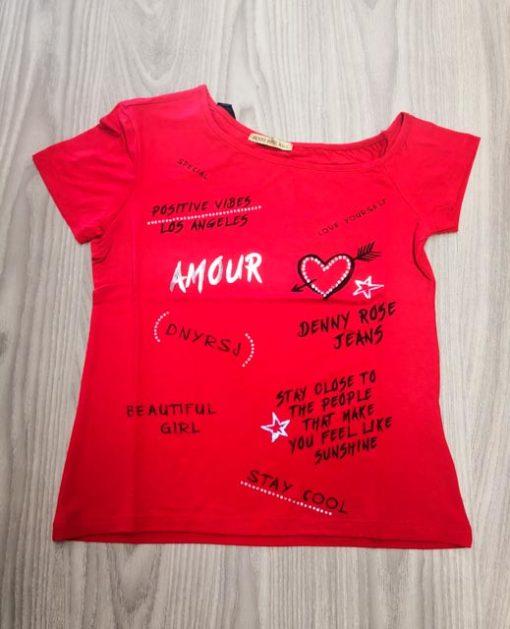 T-shirt DENNY ROSE con spalla scesa da donna-2