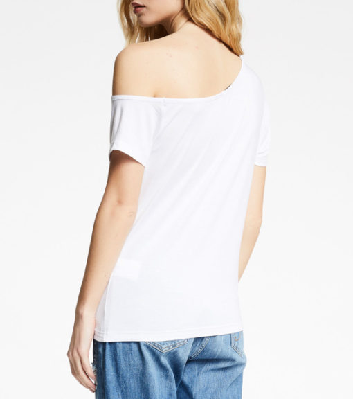 T-shirt DENNY ROSE con spalla scesa da donna-4