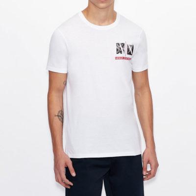 Armani Exchange maglietta uomo girocollo con piccola stampa