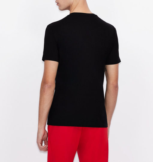 Armani Exchange maglietta uomo girocollo con piccola stampa-6