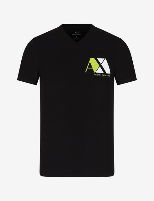 ARMANI EXCHANGE maglietta nera scollo V da uomo-2