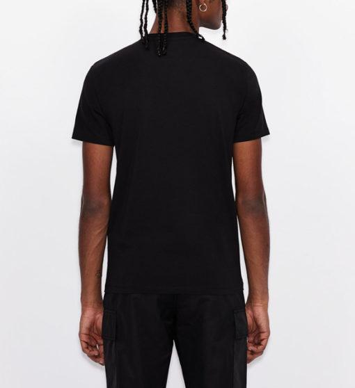 ARMANI EXCHANGE maglietta nera scollo V da uomo-3