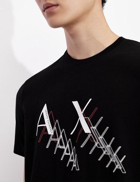 Armani Exchange t-shirt da uomo girocollo slim fit-3