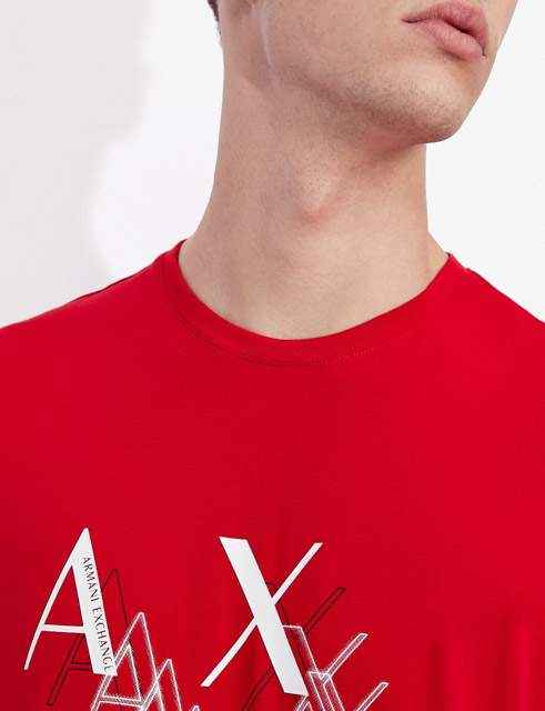 Armani Exchange t-shirt da uomo girocollo slim fit-2