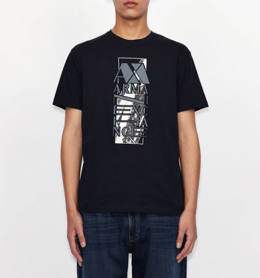 ARMANI EXCHANGE t-shirt da uomo con stampa e scritta-1