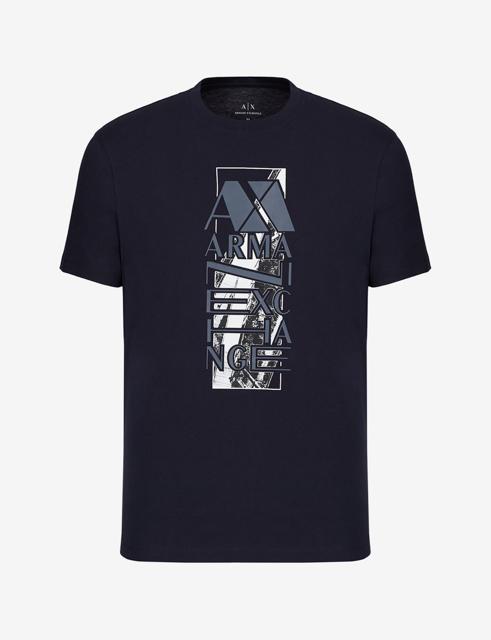 ARMANI EXCHANGE t-shirt da uomo con stampa e scritta-5
