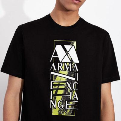 ARMANI EXCHANGE t-shirt da uomo con stampa e scritta