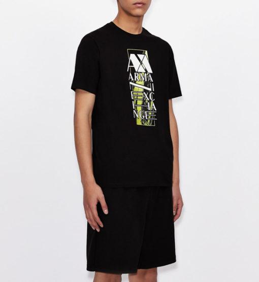ARMANI EXCHANGE t-shirt da uomo con stampa e scritta-2