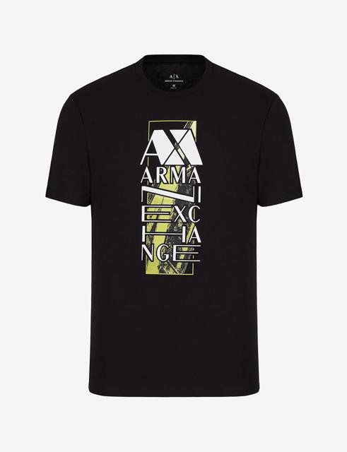 ARMANI EXCHANGE t-shirt da uomo con stampa e scritta-4