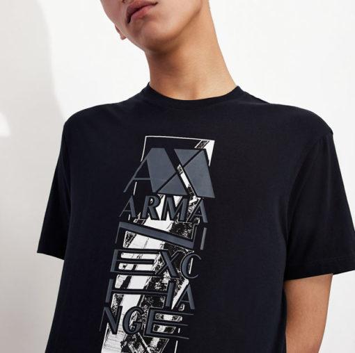 ARMANI EXCHANGE t-shirt da uomo con stampa e scritta-3