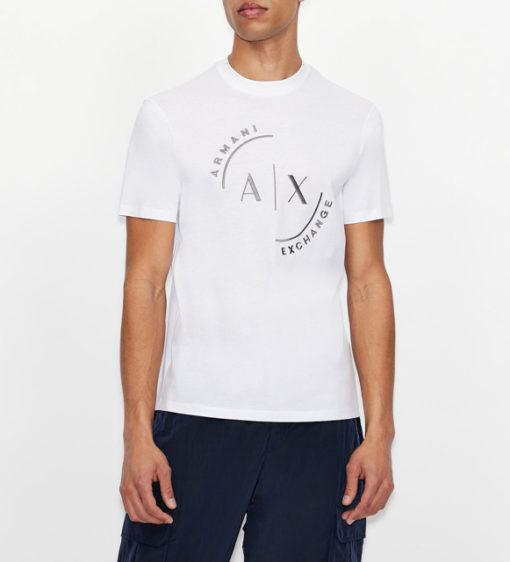 T-shirt con logo ARMANI EXCHANGE circolare ricamato