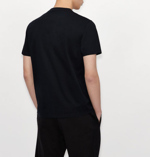 T-shirt con logo ARMANI EXCHANGE circolare ricamato -6