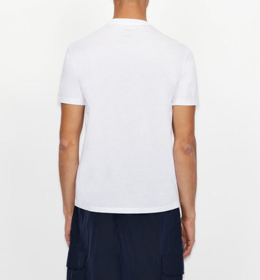 T-shirt con logo ARMANI EXCHANGE circolare ricamato -1
