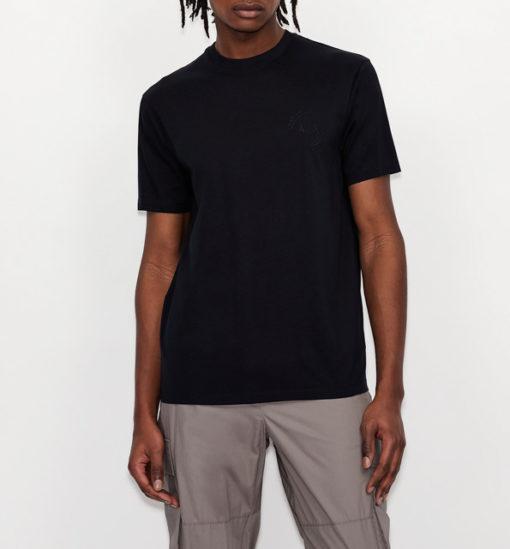 Maglietta uomo con piccolo logo ricamato ARMANI EXCHANGE-7