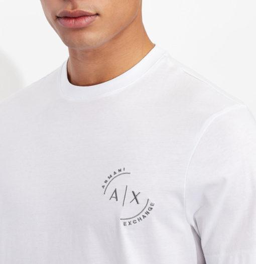 Maglietta uomo con piccolo logo ricamato ARMANI EXCHANGE-5
