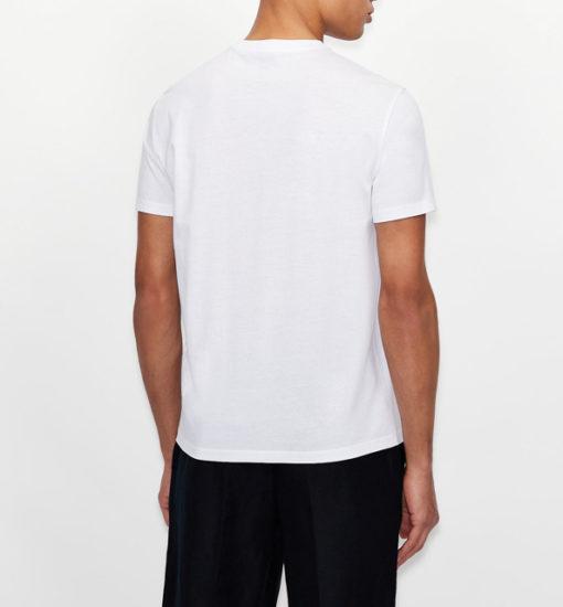 Maglietta uomo con piccolo logo ricamato ARMANI EXCHANGE-4