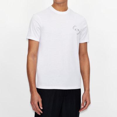 Maglietta uomo con piccolo logo ricamato ARMANI EXCHANGE