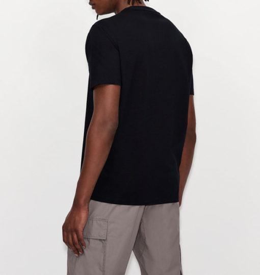 Maglietta uomo con piccolo logo ricamato ARMANI EXCHANGE-1