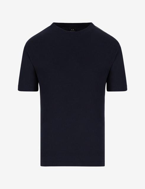 ARMANI EXCHANGE t-shirt misto lino blu da uomo-1