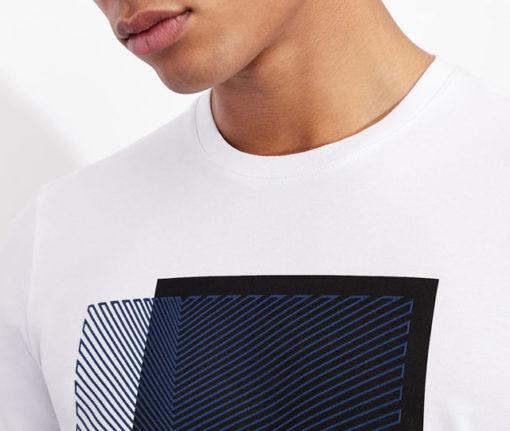 Armani Exchange maglietta con stampa quadrata da uomo-2