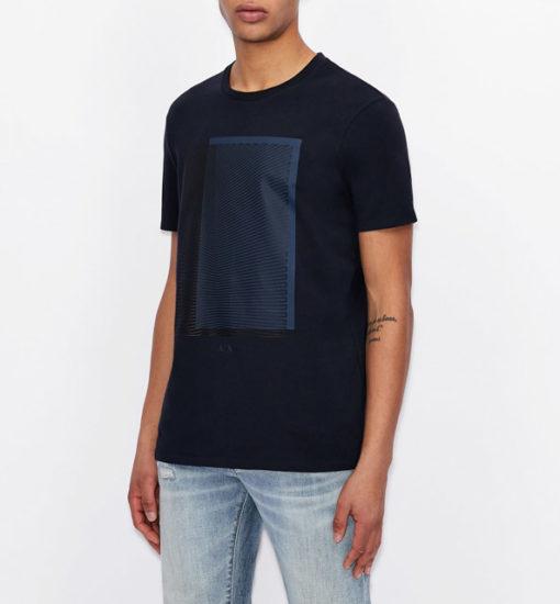 Armani Exchange maglietta con stampa quadrata da uomo