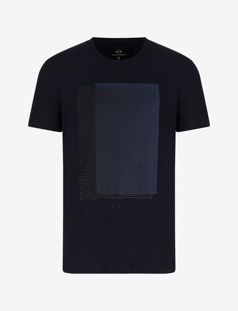 Armani Exchange maglietta con stampa quadrata da uomo-8