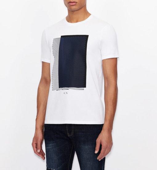 Armani Exchange maglietta con stampa quadrata da uomo-1