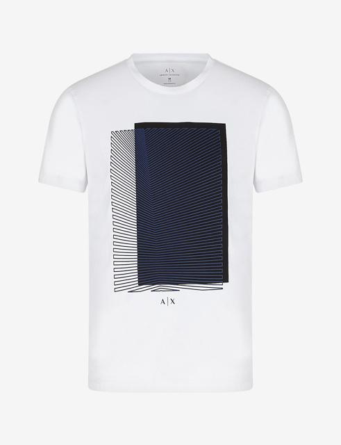 Armani Exchange maglietta con stampa quadrata da uomo-7