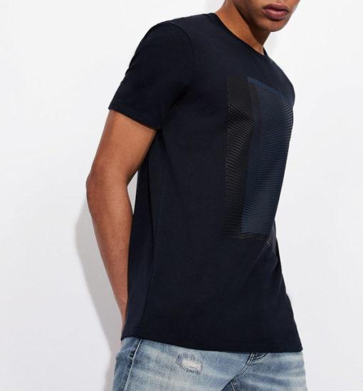 Armani Exchange maglietta con stampa quadrata da uomo-4